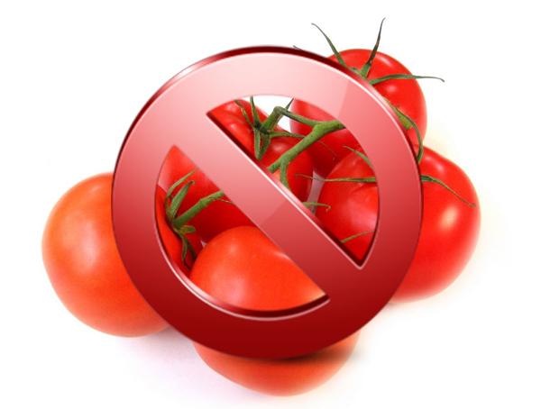 При артрозе и артрите нельзя помидоры