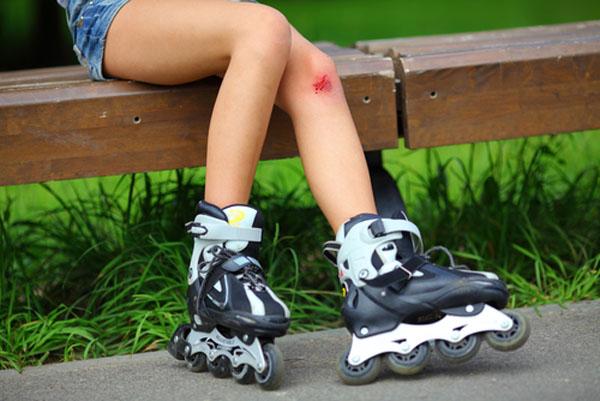 Травма колена - одна из причин болезни Шляттера