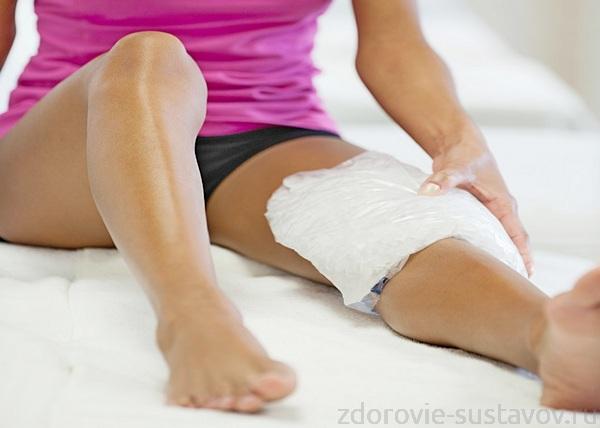 Компрес на коленном суставе